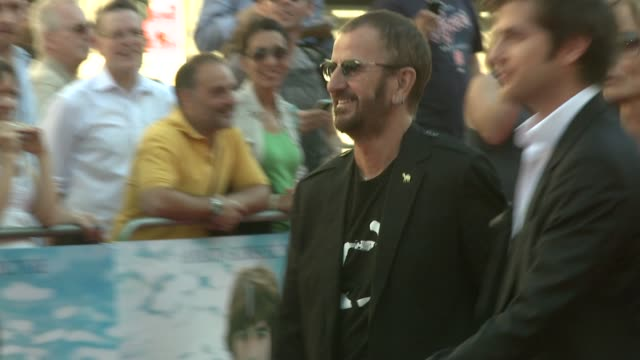 ringo starr at the george harrison: living in the material world uk premiere at london england. - ringo starr stock videos & royalty-free footage
