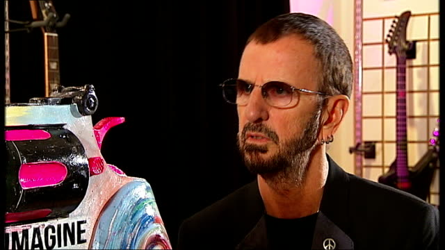 ringo starr backs non-violence foundation project; england: london: int ringo starr interview sot - hope alot of people in my game, a lot of... - bahamas stock videos & royalty-free footage
