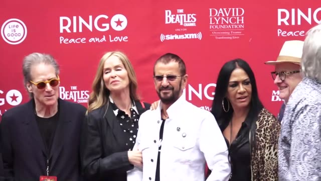 Ringo Starr Barbara Bach Sheila E Nils Lofgren David Lynch and Richard Lewis at the Ringo Starr 11th Annual Peace Love Birthday Celebration at the...