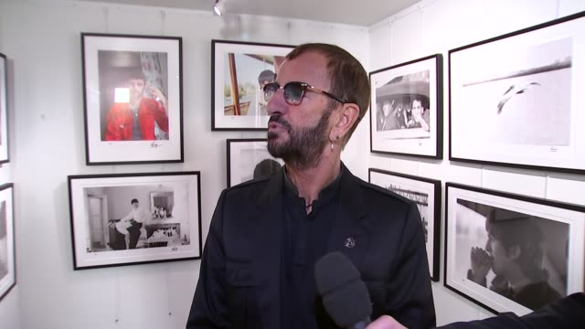 ringo starr exhibition at national gallery ringo starr interview sot - ringo starr stock videos and b-roll footage