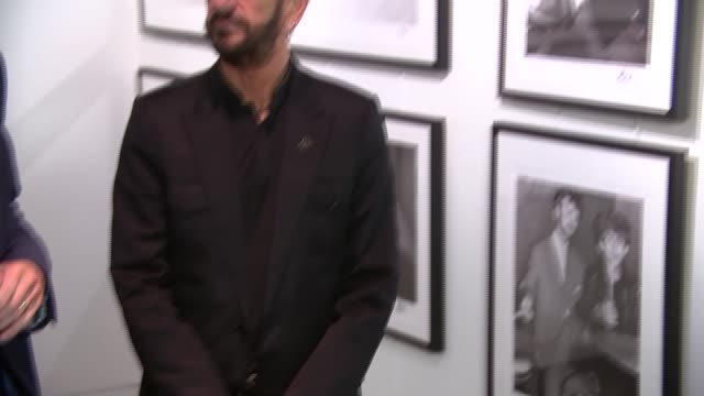 ringo starr exhibition at national gallery; ringo starr posing for photocall in front of exhibition national gallery representative press conference... - ringo starr stock videos & royalty-free footage