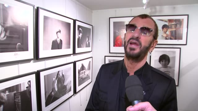 ringo starr exhibition at national gallery; starr interview sot - first selfie ever - ringo starr stock videos & royalty-free footage