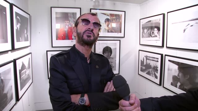ringo starr exhibition at national gallery; starr interview sot - i think she's great, thats a long time to be in that position - friend of mine took... - ringo starr stock videos & royalty-free footage