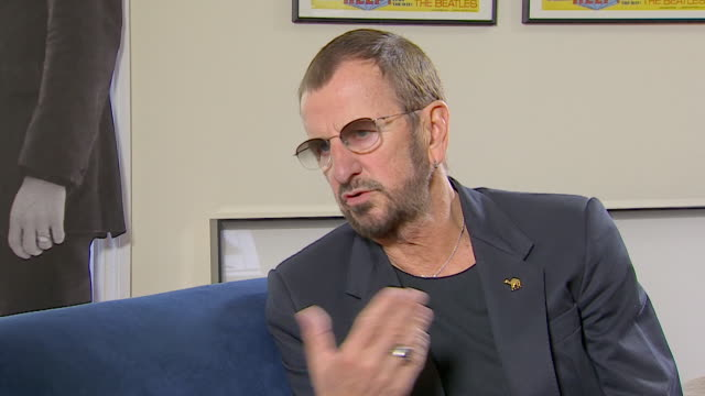 vidéos et rushes de ringo starr on archiving his photographs saying 'i found a book of negatives and so it just kinda kept building up' - drummer
