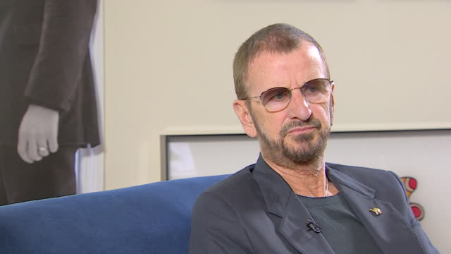 vídeos de stock, filmes e b-roll de ringo starr on playing in 'rory and the hurricanes' before playing in the beatles - 2013