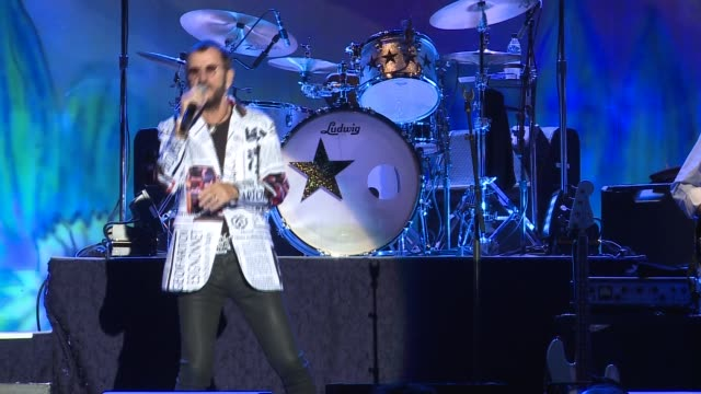 ringo starr performs at barcelona - ringo starr stock videos and b-roll footage