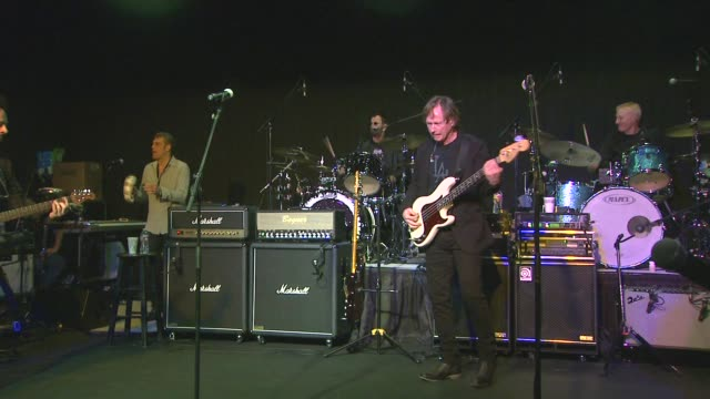 ringo starr, steve lukather, richard page, mark rivera, gregg rolie, todd rundgren and gregg bissonette perform at the announcement of the pacific... - ringo starr stock videos & royalty-free footage
