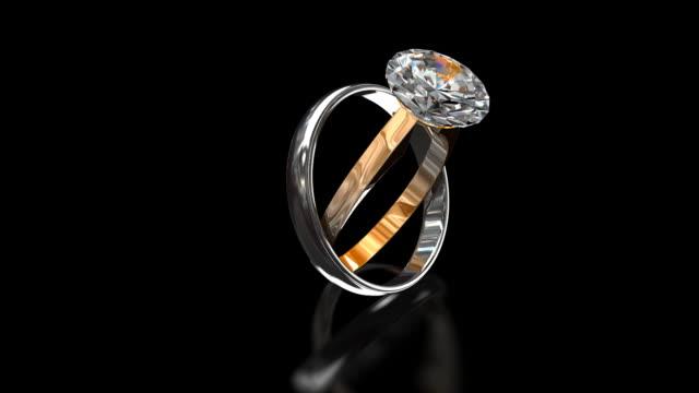 vídeos de stock e filmes b-roll de anéis - anel joia