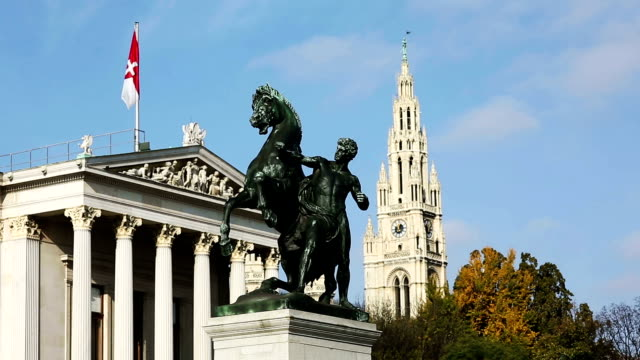ringstrasse vienna with landmarks - vienna austria stock videos & royalty-free footage