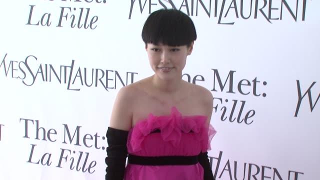 Rinko Kikuchi at the Opening Night of 'La Fille Du Regiment' at The Metropolitan Opera at New York NY