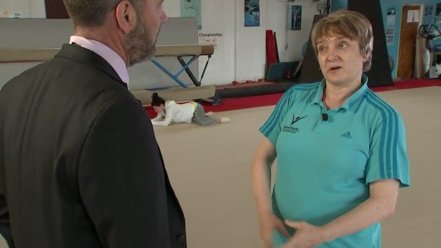 British gymnast Claudia Fragapane Helen Potter interview SOT