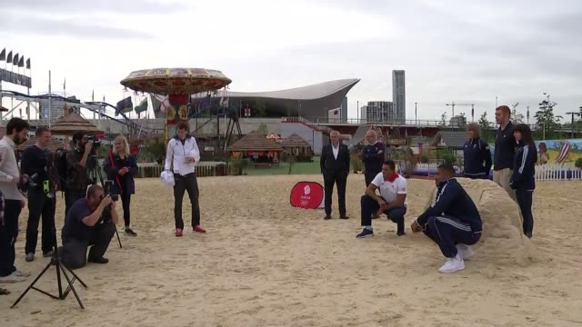 Team GB stars of London 2012 inspire future Olympians with one year to go ENGLAND London Stratford EXT British athletes including Joe Joyce Anthony...