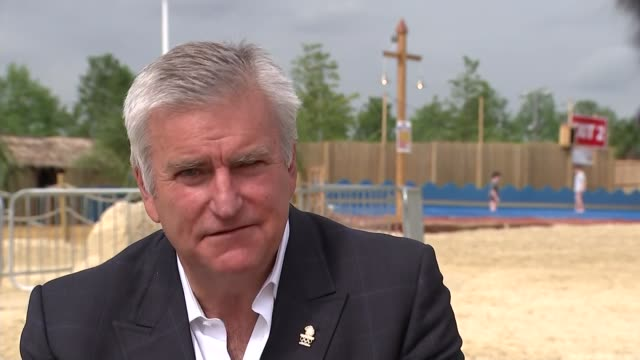 team gb stars of london 2012 inspire future olympians with one year to go bill sweeney interview sot/ sand sculpture 'team gb rio 2016 bring on the... - richard pallot stock-videos und b-roll-filmmaterial