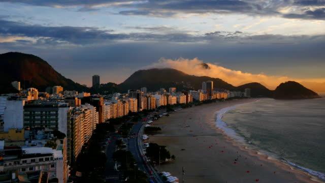 在里約熱內盧,巴西: 科帕卡瓦納 - 自然奇觀 個影片檔及 b 捲影像
