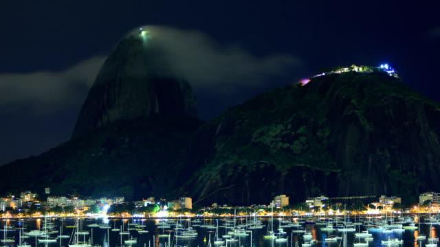 vídeos de stock, filmes e b-roll de rio de janeiro, brasil : copacabana - o anoitecer