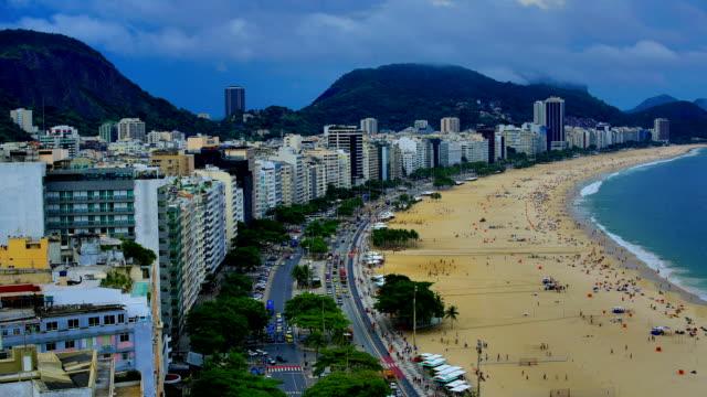 リオデジャネイロ(ブラジル):コパカバーナ - レブロン点の映像素材/bロール
