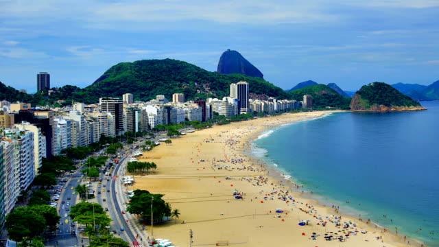 vidéos et rushes de rio de janeiro, au brésil : le copacabana - corcovado
