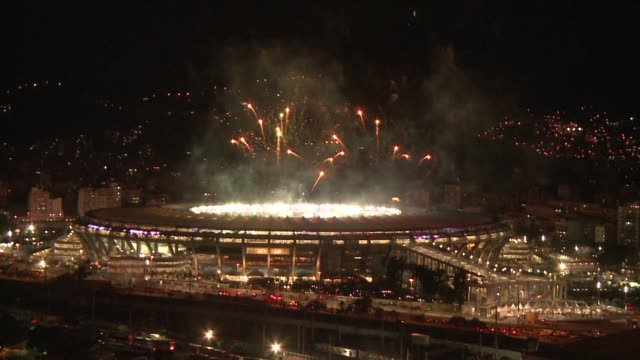 Rio de Janeiro celebrated the end of the 2014 World Cup with fireworks after Germany beat Argentina 10 in the final