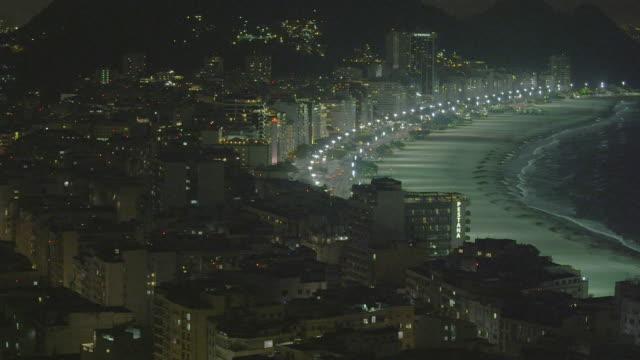 vídeos de stock, filmes e b-roll de rio de janeiro cityscape pan in brazil - panning