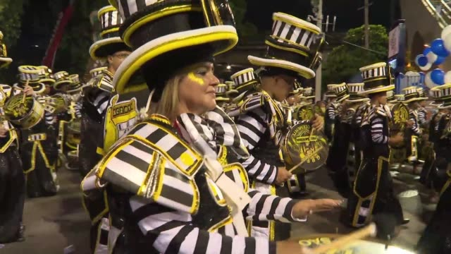 rio de janeiro gears up for the second and final night of its celebrated carnival with more than 70000 people getting ready to sing at the top of... - oscar niemeyer stock videos and b-roll footage