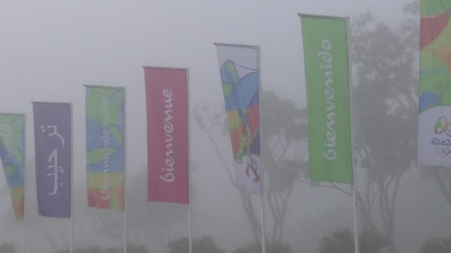 Rio de Janeiro has erected banners welcoming the visitors in several languages along the streets surrounding the international airport as the...