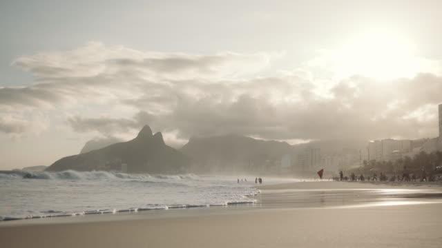 rio de janeiro - ipanema beach - establishing shot stock videos & royalty-free footage