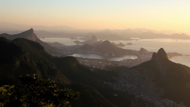 rio de janeiro mountains - lockdown viewpoint stock videos & royalty-free footage