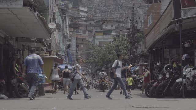 Rio de Janeiro 'Rocinha' community entrance
