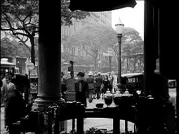 1938 - rio de janeiro - pedestrian zone stock videos & royalty-free footage
