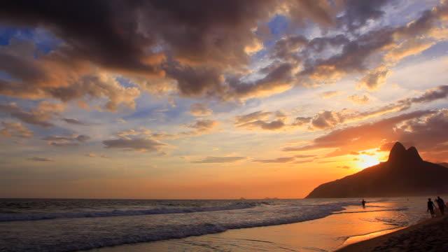 rio de janeiro - copacabana beach stock videos & royalty-free footage