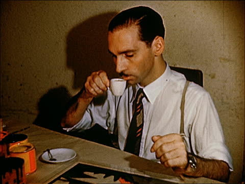 stockvideo's en b-roll-footage met 1955 rio de janiero - coffee drink