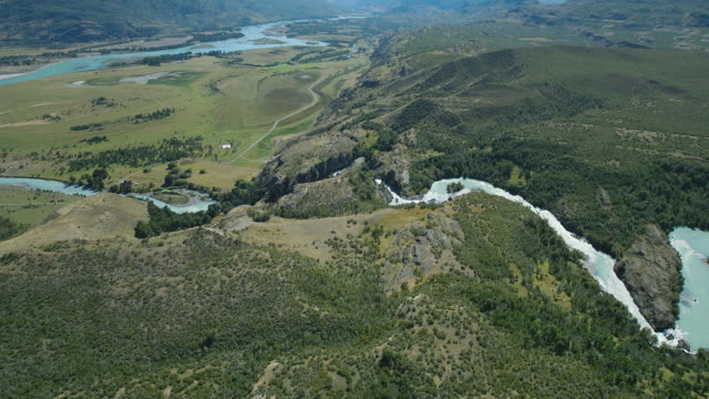 rio el salto in chile's patagonia region - chile stock videos and b-roll footage