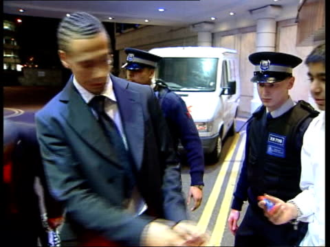 rio ferdinand drugs test appeal rejected; itn england: london: heathrow: ext/night rio ferdinand, footballer who failed appeal against his drugs ban,... - spokesman stock videos & royalty-free footage