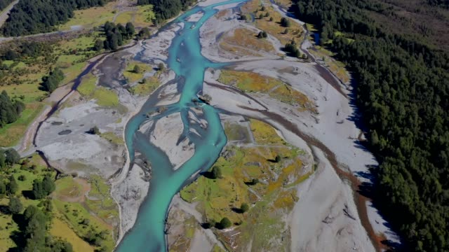 rio frio river in corcovado national park, patagonia, chile - mountain range stock videos & royalty-free footage