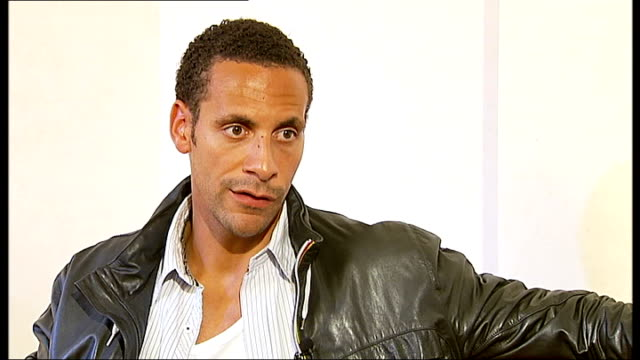 vídeos de stock e filmes b-roll de rio ferdinand appeal manchester int rio ferdinand interview continued sot on how brother anthony mcfarlane is dealing with it talking of police cuts... - peckham