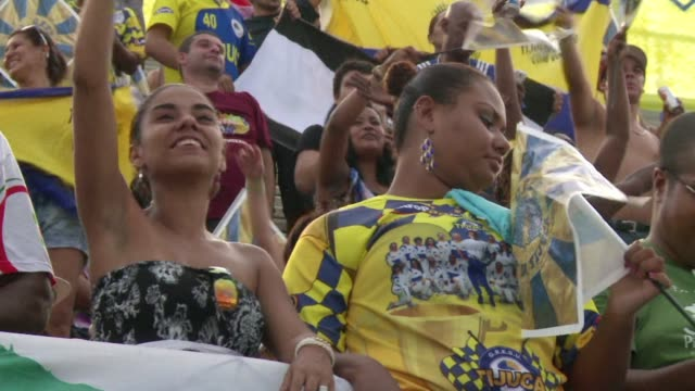 rio on wednesday elected the unidos da tijuca samba school as its carnival champions a 40strong jury crowning a program which paid homage to late... - samba school stock videos and b-roll footage