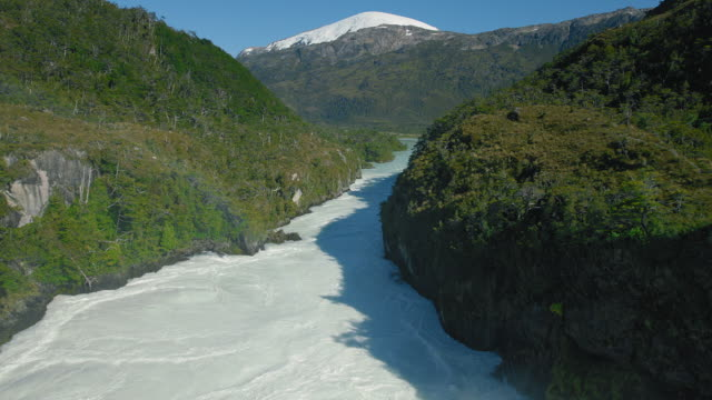 Rio Pascua Flows In Patagonia Chile