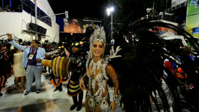 rio put on its final night of carnival parades monday capping days of extravagant processions and street festivities backing the brazilian city's... - brazilian carnival stock videos and b-roll footage