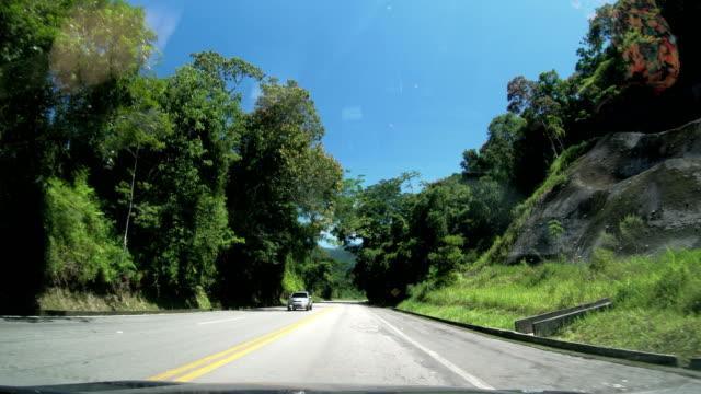 rio-santos highway, rio de janeiro state, brazil - south america stock videos & royalty-free footage