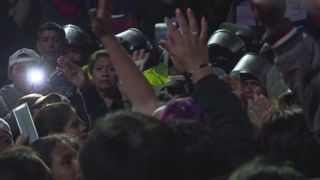 A riot and fire erupted late Monday at a prison in a Mexico City suburb prompting authorities to send in hundreds of police to restore order