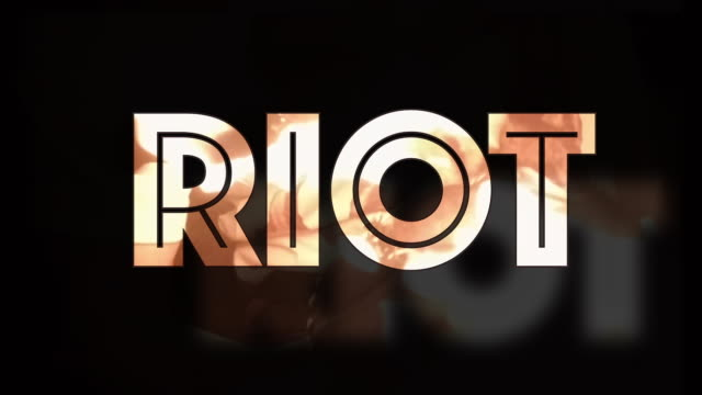 riot fire 3d text computer graphic - shaking stock videos & royalty-free footage