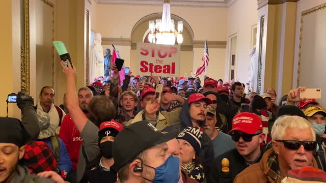 rioters attacking capitol building and interrupting joe biden's election victory certification in washington, washington dc, u.s., on wednesday,... - indoors stock videos & royalty-free footage