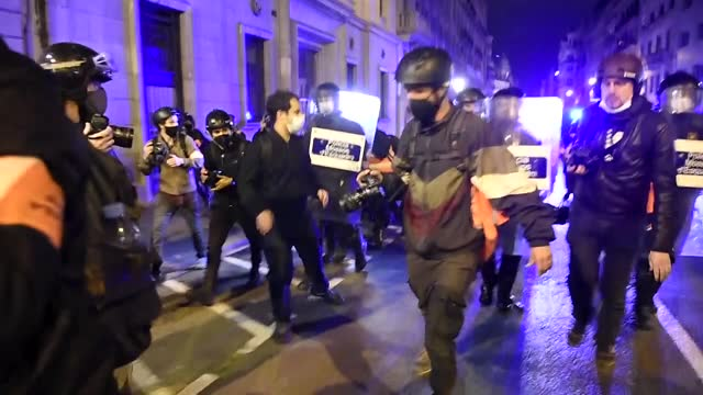 rioting and violent protests continued in spain for a sixth consecutive night on sunday against the imprisonment of rapper pablo hasel. the... - five objects stock videos & royalty-free footage