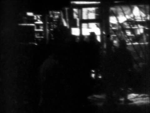 b/w 1968 rioting looting at night after assassination of martin luther king / newsreel - martin luther religious leader stock videos & royalty-free footage
