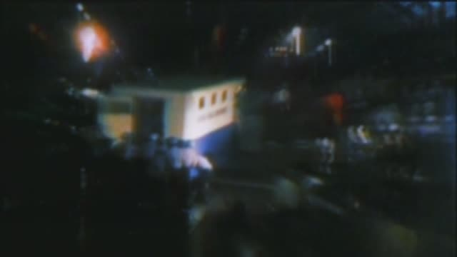 wgn riots during the democratic national convention at the international amphitheater on august 28 1968 in chicago illinois - 1968年点の映像素材/bロール