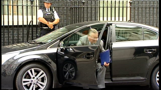 parliament recalled to discuss unrest cabinet meeting arrivals england london downing street ext william hague mp along to number 10 for cabinet... - sir george young politician stock videos and b-roll footage