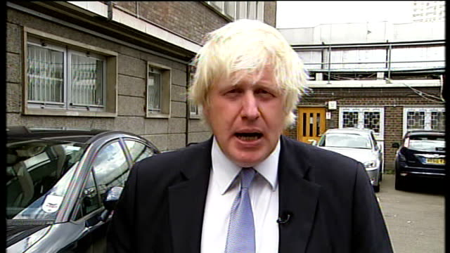 political debate over causes and response; england: london: ext boris johnson 2-way interview sot - there is a range of things / there is pure... - respect stock videos & royalty-free footage