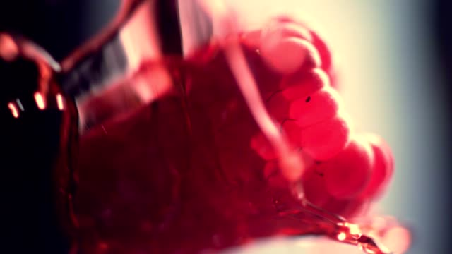 ripe raspberries mixing with jelly - raspberry stock videos and b-roll footage