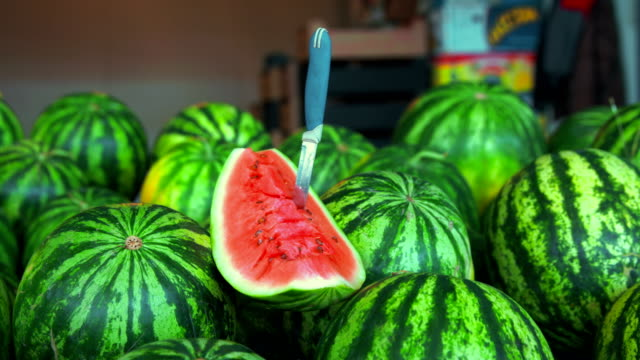 Ripe tempting watermelons
