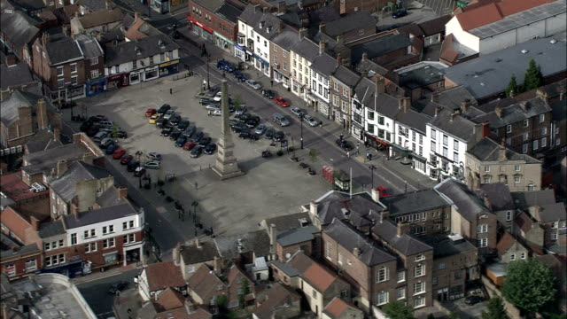 ripon - aerial view - england, north yorkshire, harrogate district, united kingdom - sports period stock videos & royalty-free footage